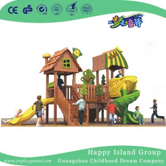 Outdoor Children Wooden Playhouse Playground Equipment (1908101)