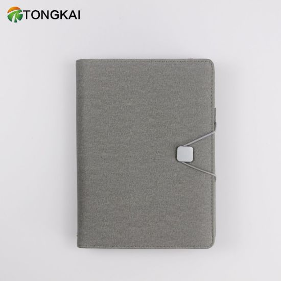 Power Bank Elastic Band Button Strap with Loose-Leaf Notebook