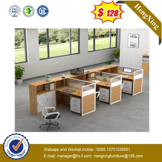 Cheaper Price New Design Study Table MFC 3 Seats Office Partition