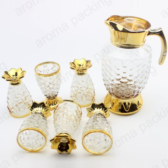 Wholesale Luxury Glass Wine Coffee Cup and Pot Set