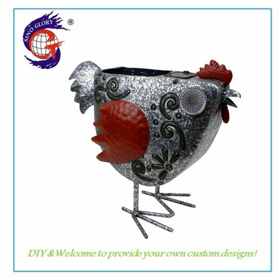 High Quality Animal Flower Pot Solar Light Garden Decoration