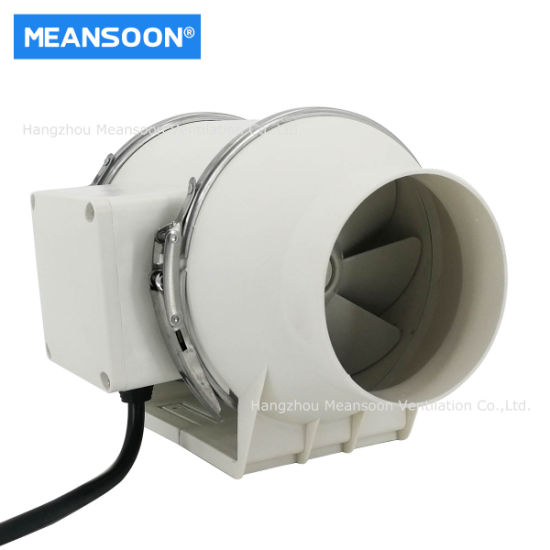 4 Inches 100 Small Plastic Mixed Flow Inline Duct Fans