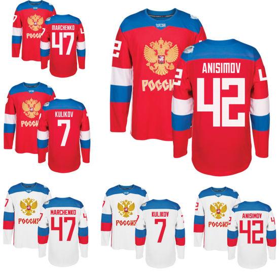 b78df6009a9 Wholesale Men Ice Hockey Russia Jerseys World Cup Wch Russian Hockey Jersey