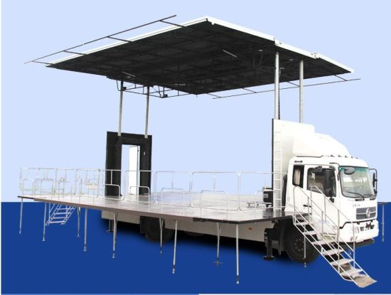 Hydraulic Control Stage Roadshow Truck Mobile Stage Truck