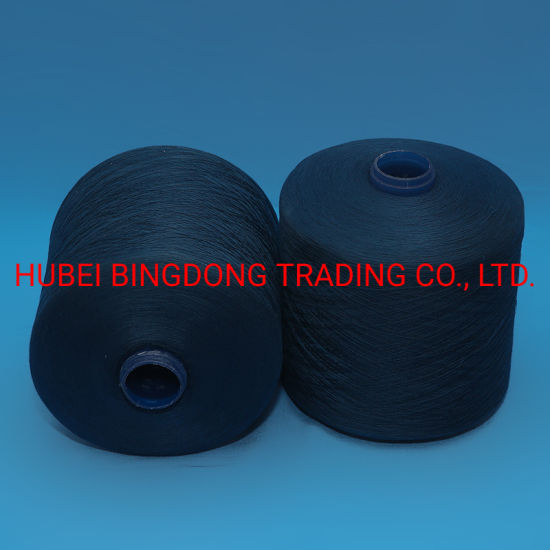 40/2 Blue Dye Tube 1.25kg/Cone 100% Polyester Spun Yarn