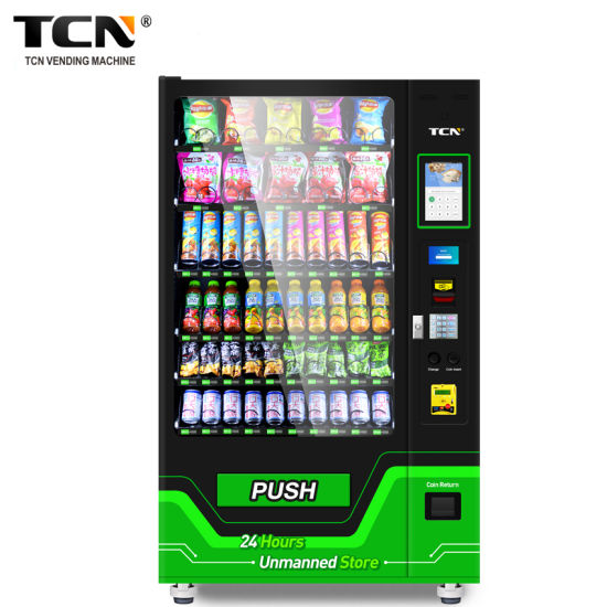 New! ! Tcn 24 Hours Self Service Combo Snack Drink Touch Screen Vending Machine