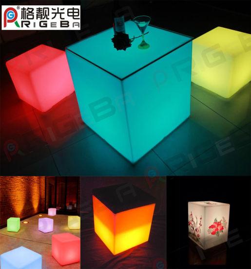 Waterproof Change Color LED Furniture LED Cube For Bar