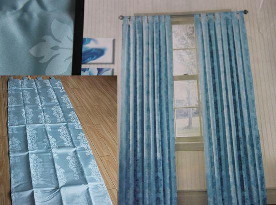 China Elegant Bedroom Home Fashion, Shimmer Grommet Curtain Panels
