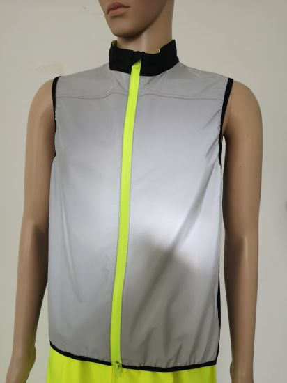 020 Hot Sales New Fashion Traffic Safety Vest Sport Running Vest Belt Waist Vest with Full Reflective Fabric Elastic Zipper Closure