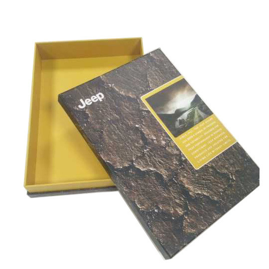 Brown and Yellow Flat Paper Carton Box for Shirt Packing