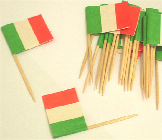 65mm Wooden Food Flag Toothpick