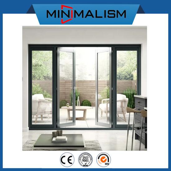 French Aluminium Double Casement Door with Clean Glass Front Doors