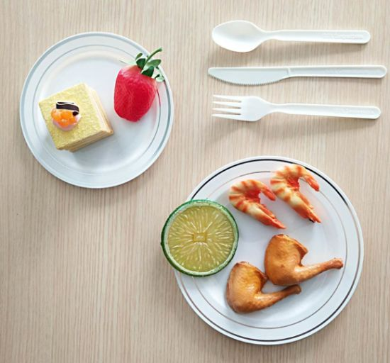 """Factory Manufacturer Compostable Eco-Friendly Biodegradable 7"""" PLA Tableware Cutlery Knife"""