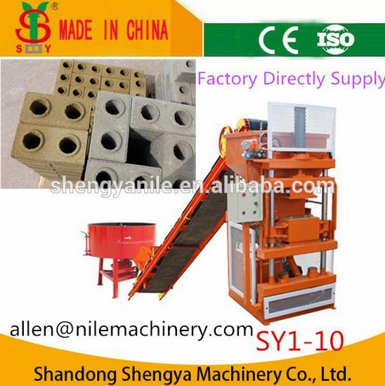 Shengya Brand Full Automatic Cement Interlocking Brick Making Machine Sy1-10 High Yield Clay Block Making Machine pictures & photos