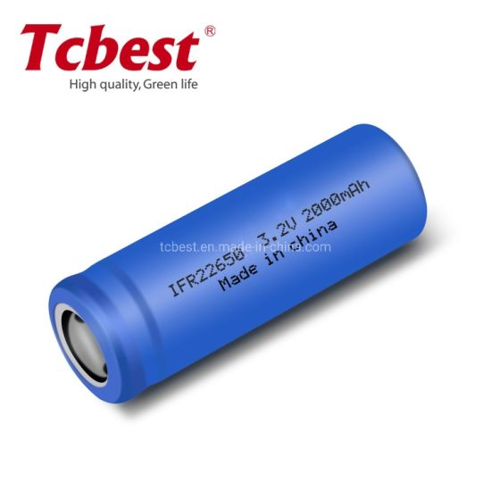 Ifr22650 3.2V 2000mAh LiFePO4 Battery for Remote Control
