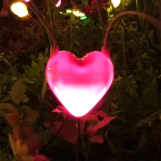 Latest Product LED Dynamic Firefly Outdoor Landscape Lighting Heart Shape Decoration Light