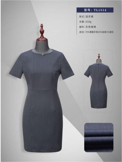 High Fashion Women's Warp Elastane Slim-Fit Dress