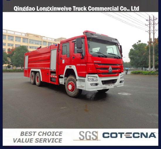 HOWO Fire Truck 6X4 Drive, 8000L, 290/300/336HP Diesel Engine