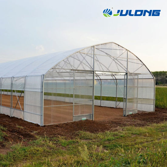 Single Span Plastic Film Intelligent Greenhouse with Control System for Tomatoes