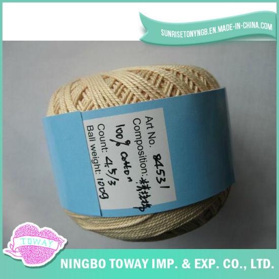 100% Cotton Cross Stitch Thread Knitting Wool Fancy Yarn