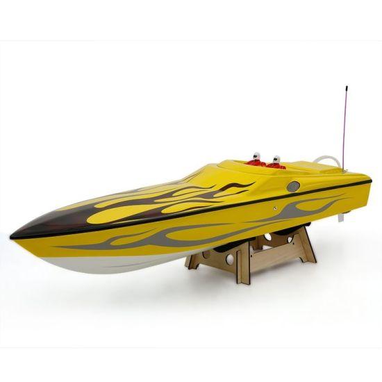 225bl026ap-Original Challenger 1300bp (Flame) Fs-Gt2 2 4G Transmitter High  Speed 60km-H Electric RC Racing Boat