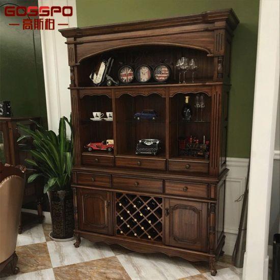 Teak Wood Wine Rack Cabinets For Home Gsp19 005