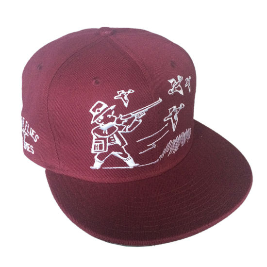 Custom Flat Brim Cotton Has Embroidered Cap pictures & photos