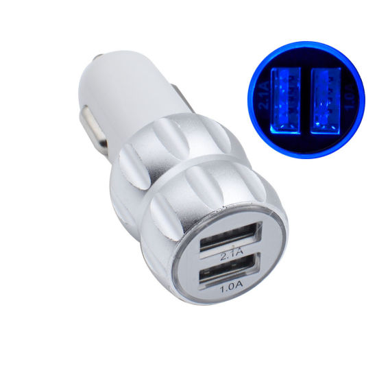 Dual USB 2 Port Car Charger Adapter for Smartphone Dual Car Charger pictures & photos