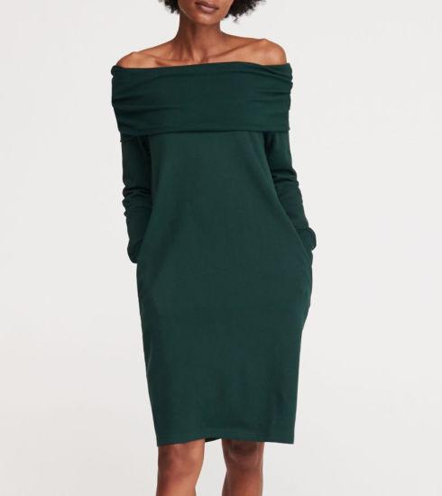 Fashion Office off Shoulder Bodycon MIDI Women Dress