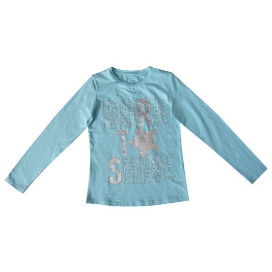 Hot Sale Children Clothes Girl Fashion Long Sleeve T-Shirt