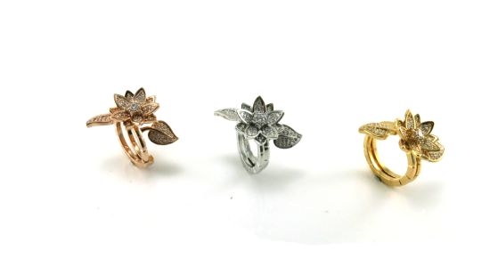 Fashion Jewelry High Quality & Hot Sale Elegant Flower Ring Silver Jewelry Ring R10501 pictures & photos