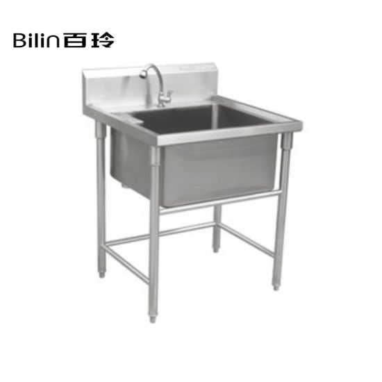 Custom Stainless Steel Commercial Kitchen Sink Work Table