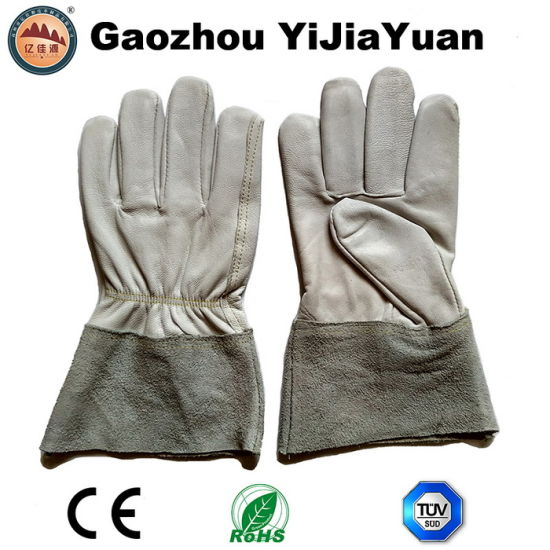 Top Grade Goat Leather Protective TIG Welding Hand Gloves pictures & photos
