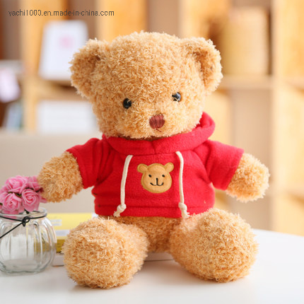 Wholesale Cute Plush Animal Soft Toy Hoodie Teddy Bear Factory for Gift
