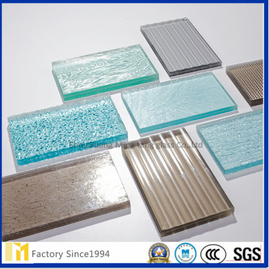 Factory Lower Price Direct Sales 4mm Grey Figured Glass pictures & photos