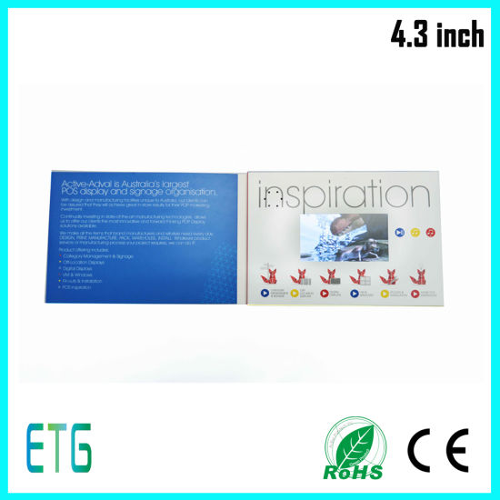 New TFT LCD Screen LCD Video Brochcure Card pictures & photos