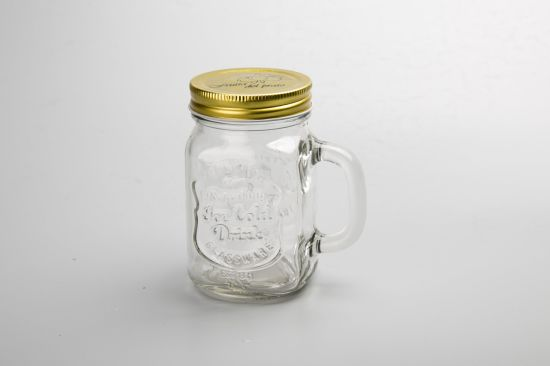 Factory Embossed Style Mason Storage Jar/ Mason Jar Drinking Glass pictures & photos
