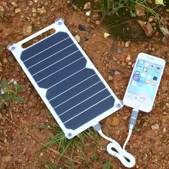 5W Solar Panel DC USB Portable Mobile Phone Power Bank Battery Portable Charger Best Supplier pictures & photos
