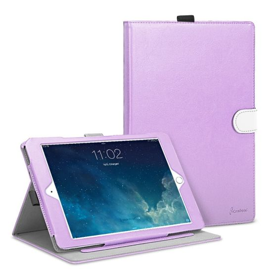 Colorful OEM Card Slot Leather Cover Case for iPad Air 2 pictures & photos