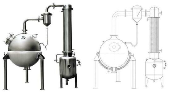 Vacuum Distillation Evaporator For Aroma Recovery Of Horticultural Products