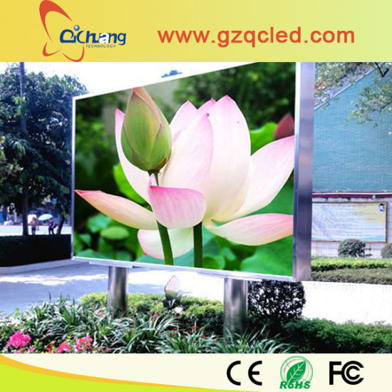 Double Support Pillar Outdoor Advertising P10 Full Color LED Billboard