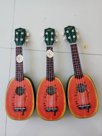 Cheap Price Fruit Colour Pineapple Lindenwood Boy Soprano Ukulele pictures & photos