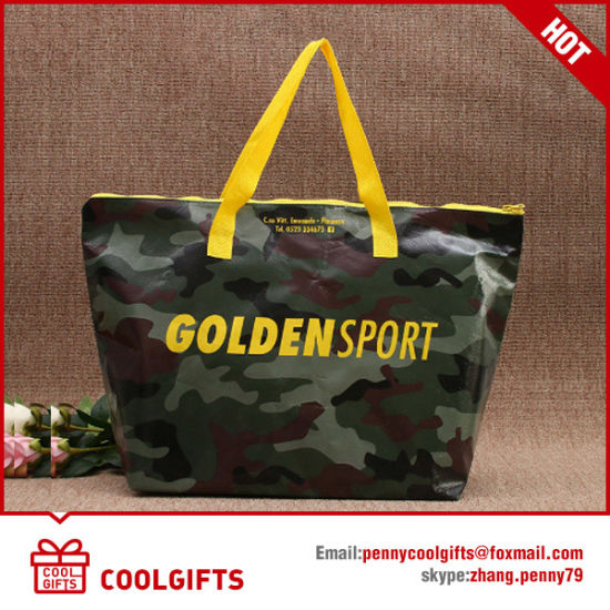 Good Quality Laminated Non Woven Promotional Shopping Bag with Zipper