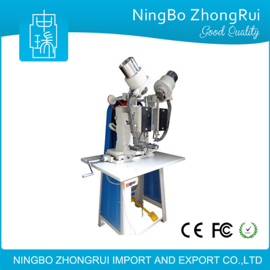 Automatic Two-Headed Eyelet Machine for Cartonbox/Leather/Paper Bag/Belt/Tag/Shoes