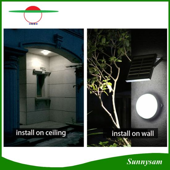 New Solar Ceiling Light 60LED 6W Super Bright Outdoor Garden Wall Ceiling  Lamps Long Working Time Lights For Yard House