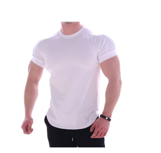 100% Cotton Screen Print Fashion Design T-Shirts for Fitness Wear Made in China