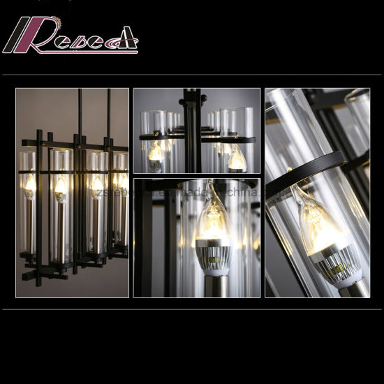 Traditional Decorative Candle Glass Pendant Lamp for Hotel Project pictures & photos