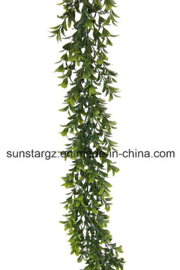 China Pe Plastic Boxwood Garland For Home Decoration 48099 China