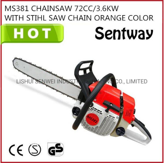 "Ms381, 72cc, 3.9kw with 24""Bar Gasoline Chainsaw Machinestock Sold Cheaper Price Brand New"