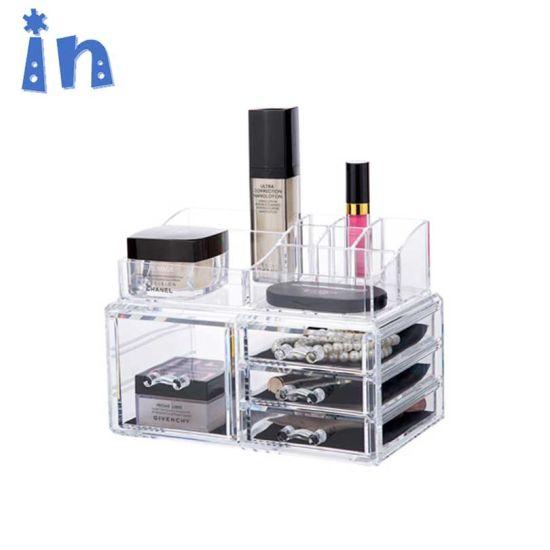 Acrylic Jewelry and Cosmetic Storage Makeup Organizer, 4 Drawer Set